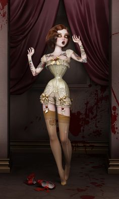 Twisted Dolls: The Butcher´s Bride by Rebeca Puebla, via Behance