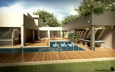 Modern House at Day by BrunoLollato.deviantart.com on @deviantART