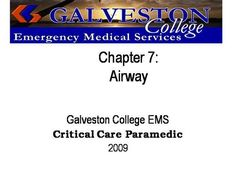 ch07  by rprue via authorSTREAM Emergency Medical Services, Power Points, Critical Care, Galveston, Presentation, Education, Onderwijs, Learning, Electrical Outlets