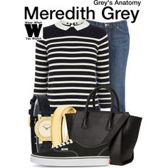 Inspired by Ellen Pompeo as Meredith Grey on Grey's Anatomy. #television #wearwhatyouwatch