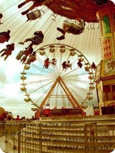 Go to a carnival, :: Vintage Lomo Photograph Ferris Wheel & Swing Ride Carrousel, Vintage Carnival, Vintage Circus, Summer Fun, Summer Time, Summer Loving, Pink Summer, Carnival Rides, Creepy Carnival