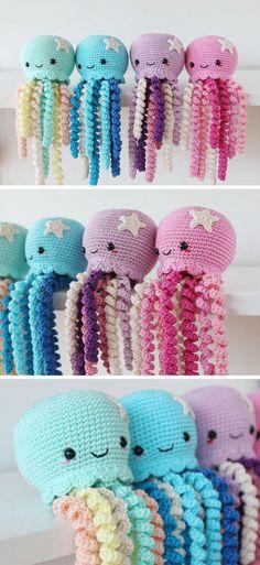 Newest Pics Cute crochet octopus Style Amigurumi Octopus Crochet Pattern Printable PDF Crochet Diy, Love Crochet, Crochet Gifts, Beginner Crochet, Crocheted Jellyfish, Crochet Octopus, Octopus Crochet Pattern Free, Free Pattern, Crochet Patterns Amigurumi