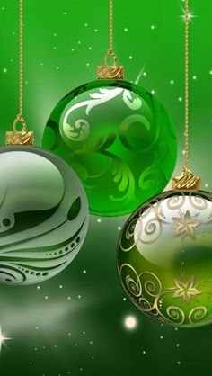 Green Ornaments and backdrop Christmas Scenes, Green Christmas, Christmas Pictures, Christmas Colors, Christmas Art, Christmas Greetings, Beautiful Christmas, Vintage Christmas, Christmas Holidays