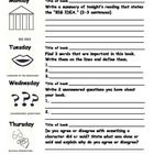 A reading log that allows your student to record details from their nightly reading. Monday they focus on the big idea of the reading. Tuesday th. Weekly Reading Logs, Reading Workshop, Middle School Reading, 4th Grade Reading, Reading Resources, Teaching Reading, 40 Book Challenge, Reading Log Printable, Higher Order Thinking