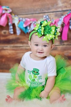 My First St. Patrick's Day Tutu Outfit My First by TickleMyTutu, $54.95