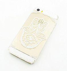 Plástico Transparente Carcasa para iPhone 5, 5S, 5C (Henna) Hamsa Mano de Fátima Mary Ohm (para iPhone 5C) - http://www.tiendasmoviles.net/2017/05/plastico-transparente-carcasa-para-iphone-5-5s-5-c-henna-hamsa-mano-de-fatima-mary-ohm-para-iphone-5-c/