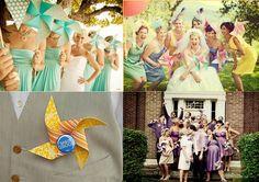 pinwheel bouquet & boutonniere #wedding