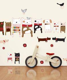 http://www.notonthehighstreet.com/chocovenyl/product/dogs-fabric-wall-stickers
