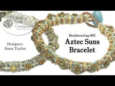 Aztec Suns Bracelet - YouTube, designed at The Potomac Bead Company, with all supplies from www.potomacbeads.com