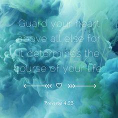 Scriptures, Bible Verses, Life Proverbs, Mom Prayers, Guard Your Heart, Daily Bible, Spiritual Inspiration, Christians, Worship