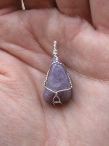 The last 6 hours of the giveaway! Lepidolite pendant wire wrapped in sterling silver Wire Wrapped Pendant, Wire Wrapped Jewelry, Stone Pendants, Wire Wrapping, Natural Stones, Belly Button Rings, Minerals, Giveaway, Drop Earrings