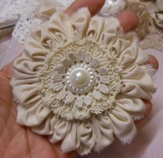 Shabby Chic Knotted Flower
