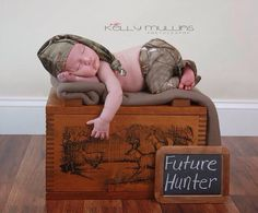 Newborn Camo Hat and Pants Set hunting little by KaityBraedy, $25.00