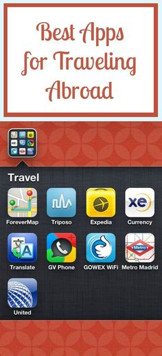 Are you lost when it comes to technology? Not sure how to take advantage of all your devices while abroad? Read this article to get to know the best apps for international travel! Travel Info, Travel Bugs, Time Travel, Travel Advice, Travel Abroad, Travel Packing, Travel Hacks, Packing Tips, Travel Ideas