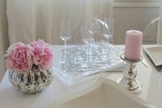 Pink tablesetting @ Coconut White