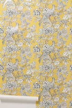 Cranesbill Castle Wallpaper - eclectic - Wallpaper - Anthropologie
