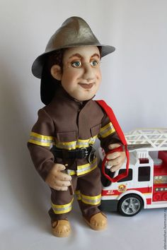 Fireman Party, Halloween, Painting, Fictional Characters, Cloth Art Dolls, Trapillo, Fire Fighter Party, Painting Art, Paintings