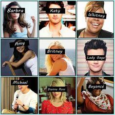 Definitely Britney, Amy, and Lady Gaga