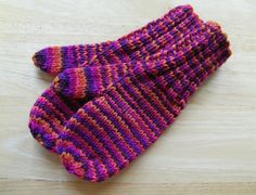 Child Medium Mittens Wool Hand Knit Commotion by Knit4you on Etsy