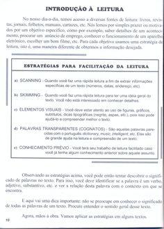 Técnicas de leitura em língua inglesa. Perfeito para o 1º ano do Ensino Médio.