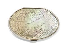 * SIRENE compact c 1943-1945 mother-of-pearl, silvered-bronze - Line VAUTRIN