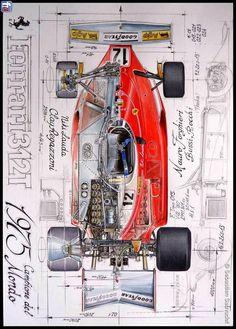 Ferrari F1, Ferrari Racing, Used Sports Cars, Sport Cars, Race Cars, Vw Vintage, Car Illustration, Car Posters, Car Drawings