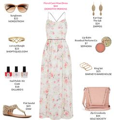Sweet and girly. @dorothyperkins @dillards @barneysny @dswshoelovers @shoptiques @nordstrom @zappos @sephora #maxi