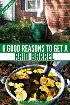 While you may not think you can do much about the world's current water crisis, every little bit really does count. Luckily, there are many simple ways to help with the water crisis, including using a rain barrel at home. Check out these 6 Good Reasons to Get a Rain Barrel at Home to Save Water. #GoGreen #Ecofriendly #GreenLivingTips #Water #SaveWater #Rain #RainWater #SaveMoney #RainBarrel #Garden #Gardening #Nature #Environment