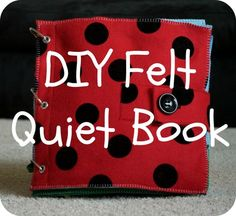 Quiet Books – Diapers and Dumbbells
