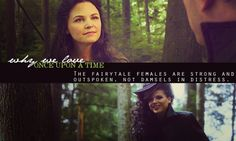 The fairytale females are strong and outspoken, not damsels in distress.