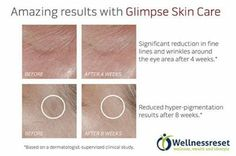 Amazing Results with Glimpse Skin Care .... For more go http://www.wellnessreset.com #health  #Beauty #tips