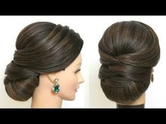 Bridal Hairstyle For Long Hair. New Wedding Updo With Low Bun wedding hairstyles 586945763921085582 Simple Bridal Hairstyle, Bridal Hair Buns, Bridal Hairdo, Wedding Bun Hairstyles, Bun Hairstyles For Long Hair, Wedding Updo, Teenage Hairstyles, Indian Bun Hairstyles, Prom Updo