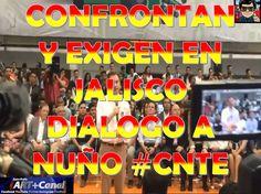 Confrontan y Exigen dialogo en Jalisco a Aurelio Nuño #CNTE