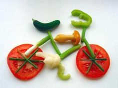 veggie bike summer school, crafti food, awesom pictur, koken klas, food art, veggi art