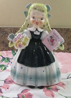 VTG Napco Lefton Era 1956 Goldilocks figurine Nursery Rhyme Valentines A1721 E