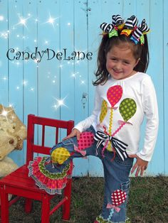 CIRCUS GIRL  Appliqued Tshirt Balloons  Birthday by CandyDeLane, $25.00