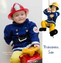 ★ Vingesus og julebrus: Fireman Sam costume made of felt.
