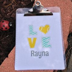 Such a cute clipboard!  Perfect for if you play tennis or even softball - they are even personalized!