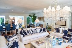 The Glam Pad: A Blue and White Miami Manse