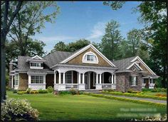 Love this floor plan if ee could just add a bonus room!  Main image for house plan # 15286