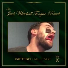 The tell-tale sign of eagerness. So near and yet so far… Jack had a great go at the #After8Challenge Can you do better?