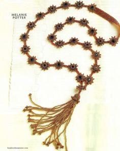 Necklace with tassel tutorial - written and by photos - 1
