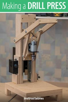 Is it worth the time and effort to design and build a homemade drill press? Check out this tutorial that uses a model 775 motor and see for yourself. # homemade tools woodworking Making the Drill Press. Is It Worth It? Small Woodworking Projects, Woodworking Power Tools, Router Woodworking, Woodworking Tools, Woodshop Tools, Woodworking Drill Press, Woodworking Magazines, Woodworking Workshop, Woodworking Techniques
