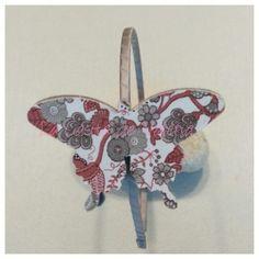diadema Tocado Mariposa Estampada