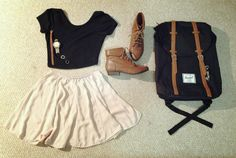 this outfit is just perfect for the first day of school or something.