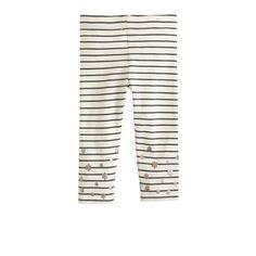 Girls' everyday capri leggings in floral stripe