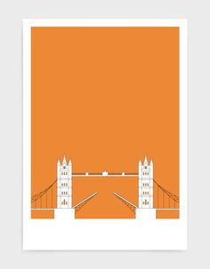 A customisable London print illustrating Tower Bridge, a London icon. This personalised print is a perfect new home gift idea. Our London art is available in a variety of colours and with a personal message if required. FREE shipping for all UK orders. CLICK THE IMAGE to view the full collection, from just £13. #London #TowerBridge #UKTravelPrints #StGeorgesDay #UKLandmarks #LondonWallArt London Icons, London Art, Bird Prints, Wall Art Prints, Poster On, Poster Prints, New Home Gifts, Abstract Styles, Graphic Design Art