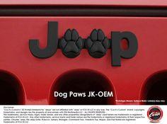 #CuzitsCustom Dog Paws Emblem for Jeeps