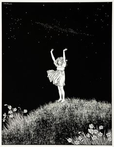 Rare illustration by Ida Rentoul Outhwaite from her first deluxe series, Elves and Fairies, produced in Australia by Thomas Lothian. Her illustrations are her enduring legacy of her love of the Australian bush. Art Graphique, Children's Book Illustration, Faeries, Art Inspo, Vintage Art, Illustrators, Art Nouveau, Cool Art, Art Drawings