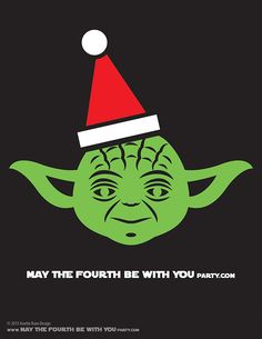 DIY Yoda Christmas T-shirt/Stencil Pattern. This and many other patterns can be downloaded from our blog. /// Note: Patterns are ©, and your work must include © if posted, and can not be sold. See blog for complete ©. #yoda #starwars #tshirt #starwarsparty #maythefourthbewithyou #starwarscostume #pattern #christmas maythefourthbewithyoupartyblog.com